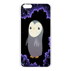 Fractal Image With Penguin Drawing Apple Seamless iPhone 6 Plus/6S Plus Case (Transparent)