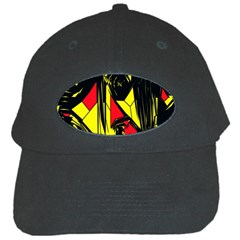 Easy Colors Abstract Pattern Black Cap by Nexatart