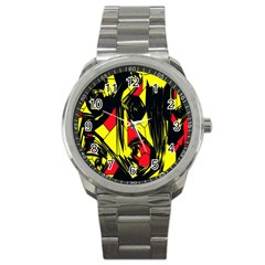Easy Colors Abstract Pattern Sport Metal Watch by Nexatart