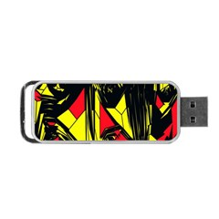Easy Colors Abstract Pattern Portable Usb Flash (two Sides) by Nexatart