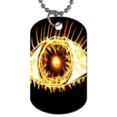 Flame Eye Burning Hot Eye Illustration Dog Tag (two Sides) by Nexatart