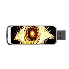 Flame Eye Burning Hot Eye Illustration Portable Usb Flash (two Sides) by Nexatart