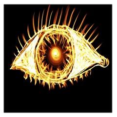 Flame Eye Burning Hot Eye Illustration Large Satin Scarf (square) by Nexatart