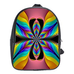 Fractal Butterfly School Bags(large)  by Nexatart