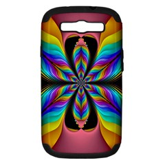 Fractal Butterfly Samsung Galaxy S Iii Hardshell Case (pc+silicone) by Nexatart