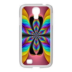 Fractal Butterfly Samsung Galaxy S4 I9500/ I9505 Case (white) by Nexatart