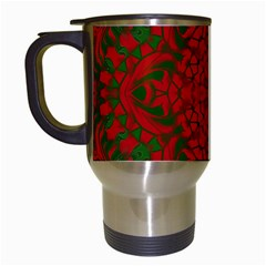 Christmas Kaleidoscope Travel Mugs (white) by Nexatart