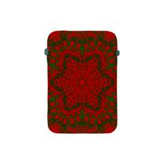 Christmas Kaleidoscope Apple Ipad Mini Protective Soft Cases by Nexatart