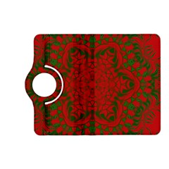Christmas Kaleidoscope Kindle Fire Hd (2013) Flip 360 Case by Nexatart