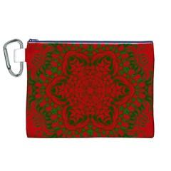 Christmas Kaleidoscope Canvas Cosmetic Bag (xl) by Nexatart