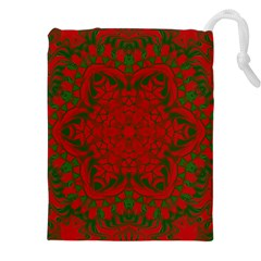 Christmas Kaleidoscope Drawstring Pouches (xxl) by Nexatart