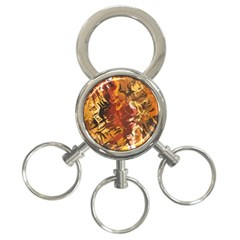 Abstraction Abstract Pattern 3 Ring Key Chains by Nexatart