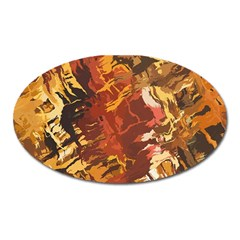 Abstraction Abstract Pattern Oval Magnet by Nexatart