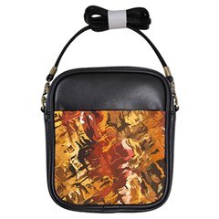 Abstraction Abstract Pattern Girls Sling Bags by Nexatart
