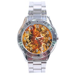 Abstraction Abstract Pattern Stainless Steel Analogue Watch by Nexatart