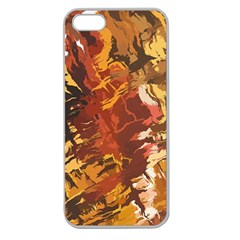 Abstraction Abstract Pattern Apple Seamless Iphone 5 Case (clear) by Nexatart