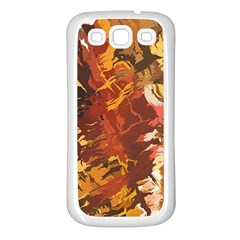 Abstraction Abstract Pattern Samsung Galaxy S3 Back Case (white) by Nexatart