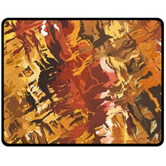 Abstraction Abstract Pattern Double Sided Fleece Blanket (medium)  by Nexatart