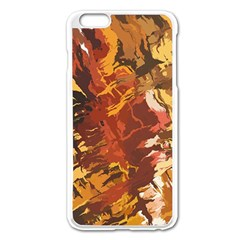 Abstraction Abstract Pattern Apple Iphone 6 Plus/6s Plus Enamel White Case by Nexatart
