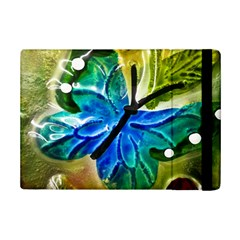 Blue Spotted Butterfly Art In Glass With White Spots Ipad Mini 2 Flip Cases by Nexatart