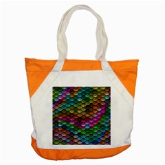 Fish Scales Pattern Background In Rainbow Colors Wallpaper Accent Tote Bag by Nexatart