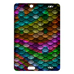 Fish Scales Pattern Background In Rainbow Colors Wallpaper Amazon Kindle Fire Hd (2013) Hardshell Case by Nexatart