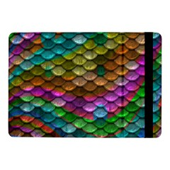 Fish Scales Pattern Background In Rainbow Colors Wallpaper Samsung Galaxy Tab Pro 10 1  Flip Case by Nexatart