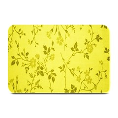 Flowery Yellow Fabric Plate Mats by Nexatart