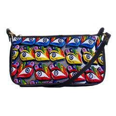 The Eye Of Osiris As Seen On Mediterranean Fishing Boats For Good Luck Shoulder Clutch Bags by Nexatart