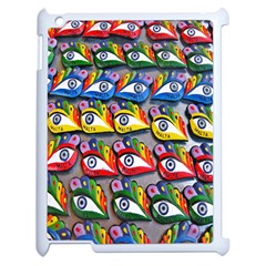 The Eye Of Osiris As Seen On Mediterranean Fishing Boats For Good Luck Apple Ipad 2 Case (white) by Nexatart