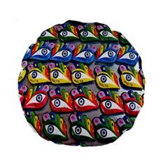 The Eye Of Osiris As Seen On Mediterranean Fishing Boats For Good Luck Standard 15  Premium Round Cushions by Nexatart