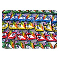 The Eye Of Osiris As Seen On Mediterranean Fishing Boats For Good Luck Samsung Galaxy Tab 8 9  P7300 Flip Case by Nexatart