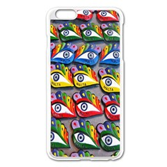 The Eye Of Osiris As Seen On Mediterranean Fishing Boats For Good Luck Apple Iphone 6 Plus/6s Plus Enamel White Case by Nexatart