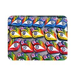 The Eye Of Osiris As Seen On Mediterranean Fishing Boats For Good Luck Double Sided Flano Blanket (mini)  by Nexatart