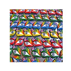 The Eye Of Osiris As Seen On Mediterranean Fishing Boats For Good Luck Small Satin Scarf (square) by Nexatart