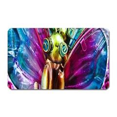 Magic Butterfly Art In Glass Magnet (rectangular) by Nexatart
