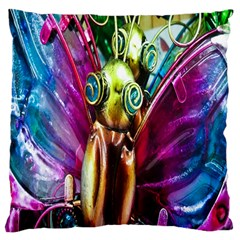 Magic Butterfly Art In Glass Large Cushion Case (two Sides) by Nexatart