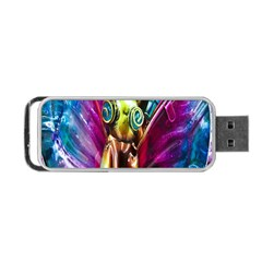 Magic Butterfly Art In Glass Portable Usb Flash (two Sides) by Nexatart