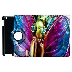 Magic Butterfly Art In Glass Apple Ipad 2 Flip 360 Case by Nexatart