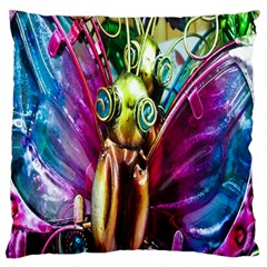 Magic Butterfly Art In Glass Large Flano Cushion Case (two Sides) by Nexatart