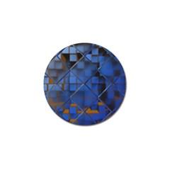 Glass Abstract Art Pattern Golf Ball Marker (4 Pack) by Nexatart
