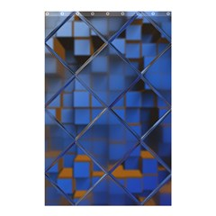 Glass Abstract Art Pattern Shower Curtain 48  X 72  (small)  by Nexatart
