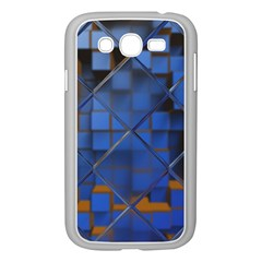 Glass Abstract Art Pattern Samsung Galaxy Grand Duos I9082 Case (white) by Nexatart