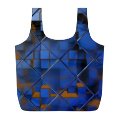 Glass Abstract Art Pattern Full Print Recycle Bags (l)  by Nexatart