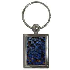 Background Abstract Art Pattern Key Chains (rectangle)  by Nexatart