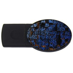 Background Abstract Art Pattern Usb Flash Drive Oval (4 Gb) by Nexatart