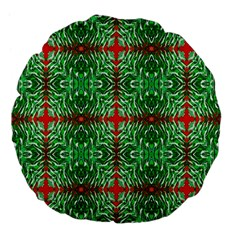 Geometric Seamless Pattern Digital Computer Graphic Large 18  Premium Flano Round Cushions by Nexatart