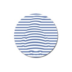 Animals Illusion Penguin Line Blue White Magnet 3  (round) by Mariart