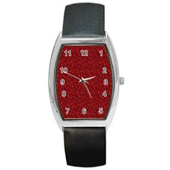 Bicycle Guitar Casual Car Red Barrel Style Metal Watch by Mariart