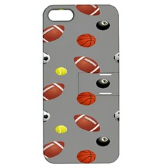 Balltiled Grey Ball Tennis Football Basketball Billiards Apple Iphone 5 Hardshell Case With Stand by Mariart